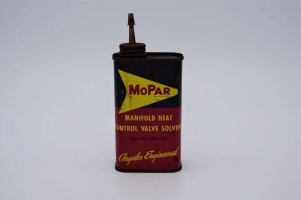 Antique Mopar Manifold Heat Control Valve Solvent can, 8 oz.