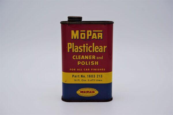 Antique Mopar Plasticlear Cleaner & Polish, 16 oz can.