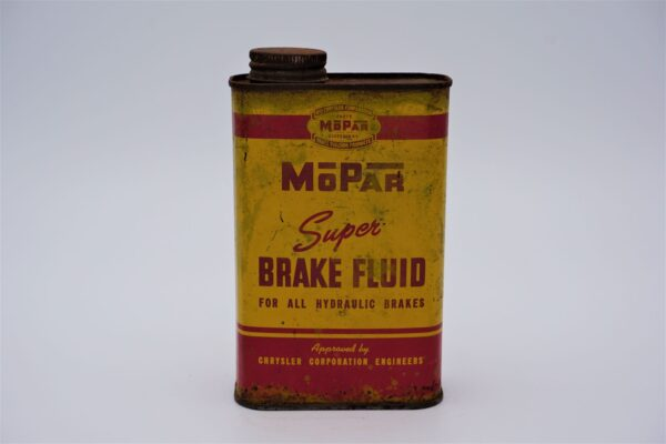 Antique Mopar Super Brake Fluid, 16 oz can.