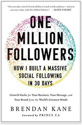 Book title - One Million Followers: How I Built a Massive Social Following in 30 Days.