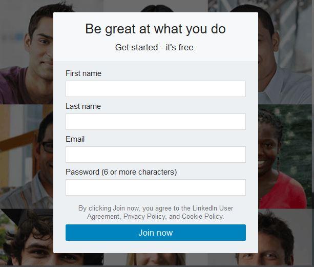 linkedin profile tips create account