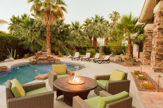 vacation rental outdoor spaces fire pit