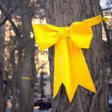 Yellow Ribbon in Memory  of Vicki Lynne