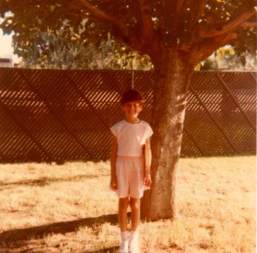 Vicki Lynne Hoskinson, first day of 3rd grade, Homer Davis Elementary School, August 20, 1984