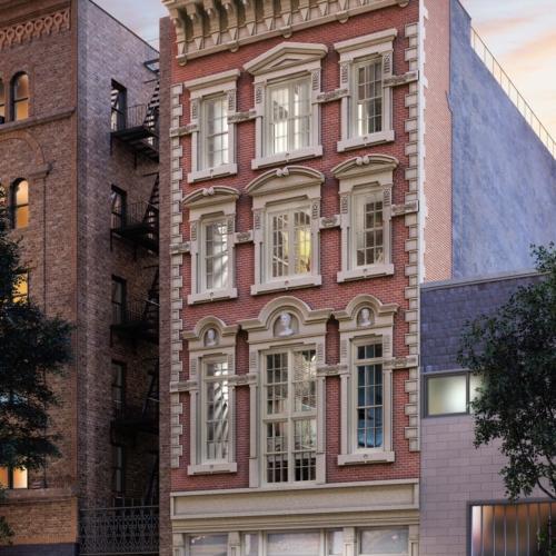 74a E 4th Street with new facade