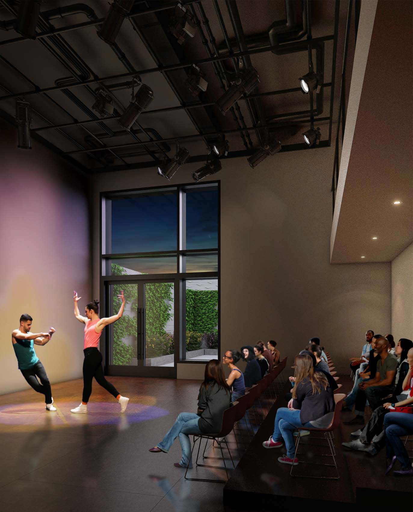 The new flex space at 74a East 4th Street for evening performances