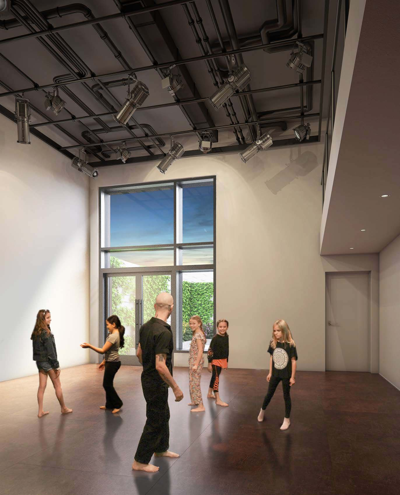 The new flex space at 74a East 4th Street for daytime workshops