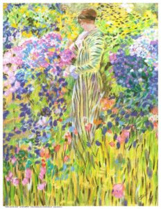 Monet's Lady in the Garden by Ellie Dias