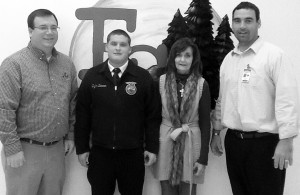 SUBMITTED PHOTO. Dylan Duncan of Gable, a student at Piedmont College and graduate of East Clarendon High School was awarded the American FFA Degree, the organization's highest honor, recently. He stands here with East Clarendon agricultural teacher Bert Beasley, far left, Clarendon 3 Superintendent Connie Dennis, center-right, and East Clarendon Middle-High School Prinicipal Jason Cook.