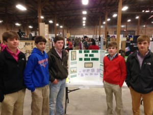 SUBMITTED PHOTO. Left to right are Grayson Gamble, Dawson Hatfield, Brent Jordan, Taylor Lee and Morgan Morris.