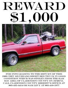 Reward For Truck copy