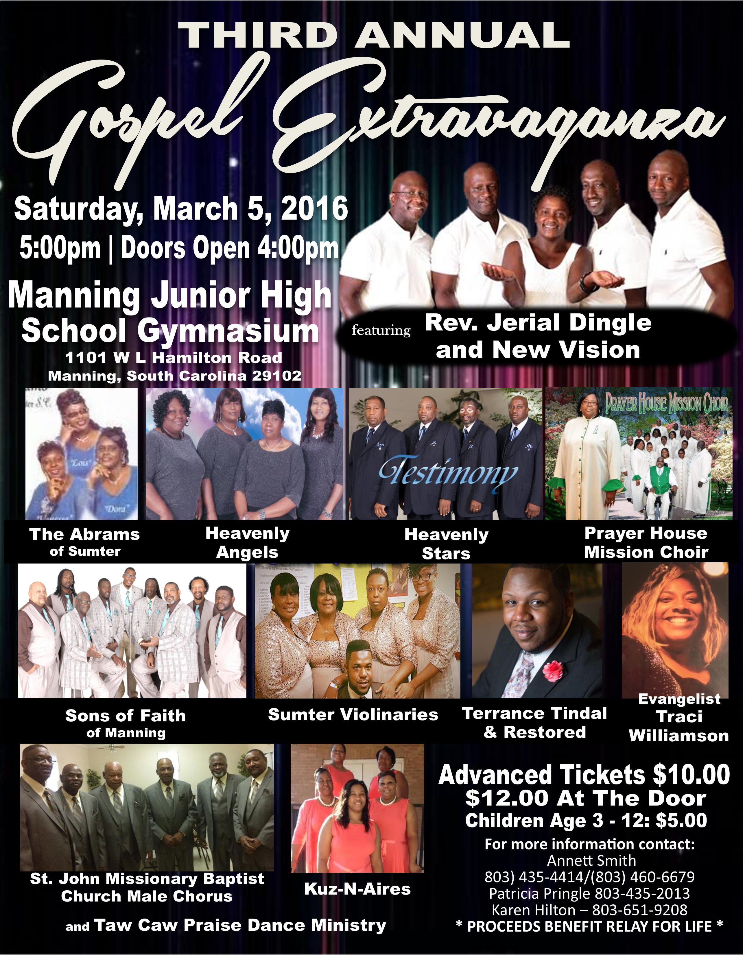 3rd Annual Gospel Program Flyer
