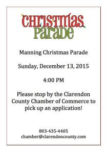 Manning Christmas Parade