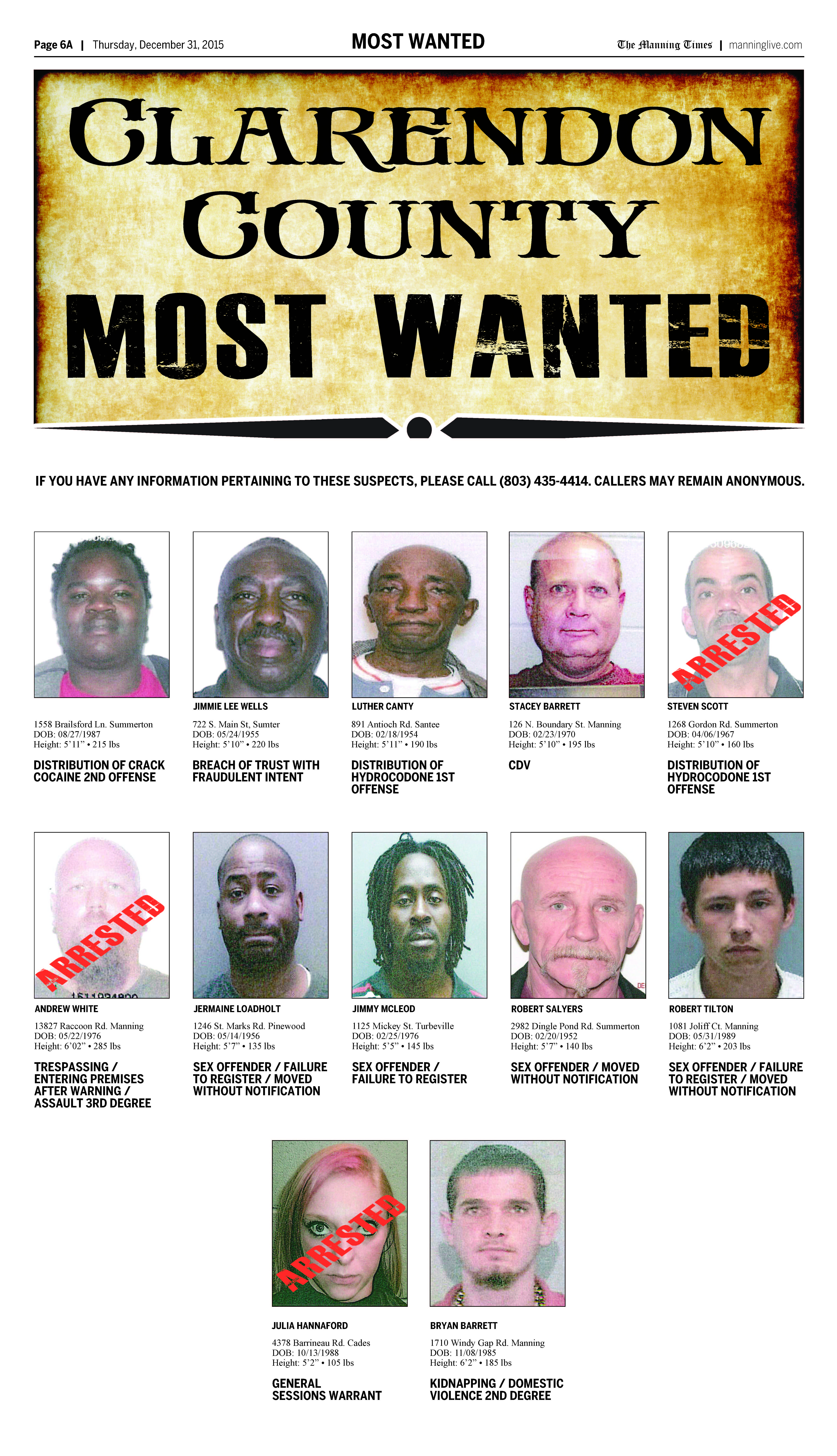 most wanted 1231