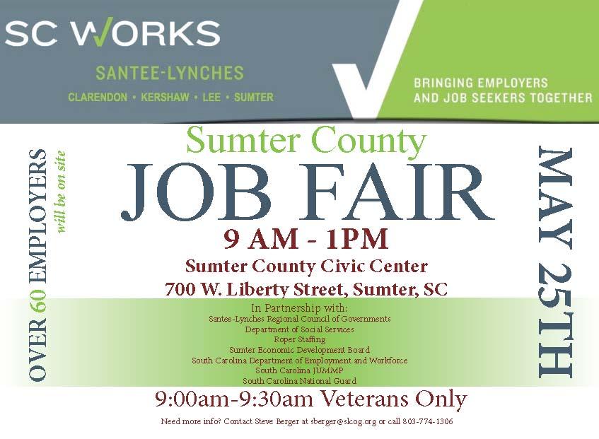 Sumter job fair flier 2016