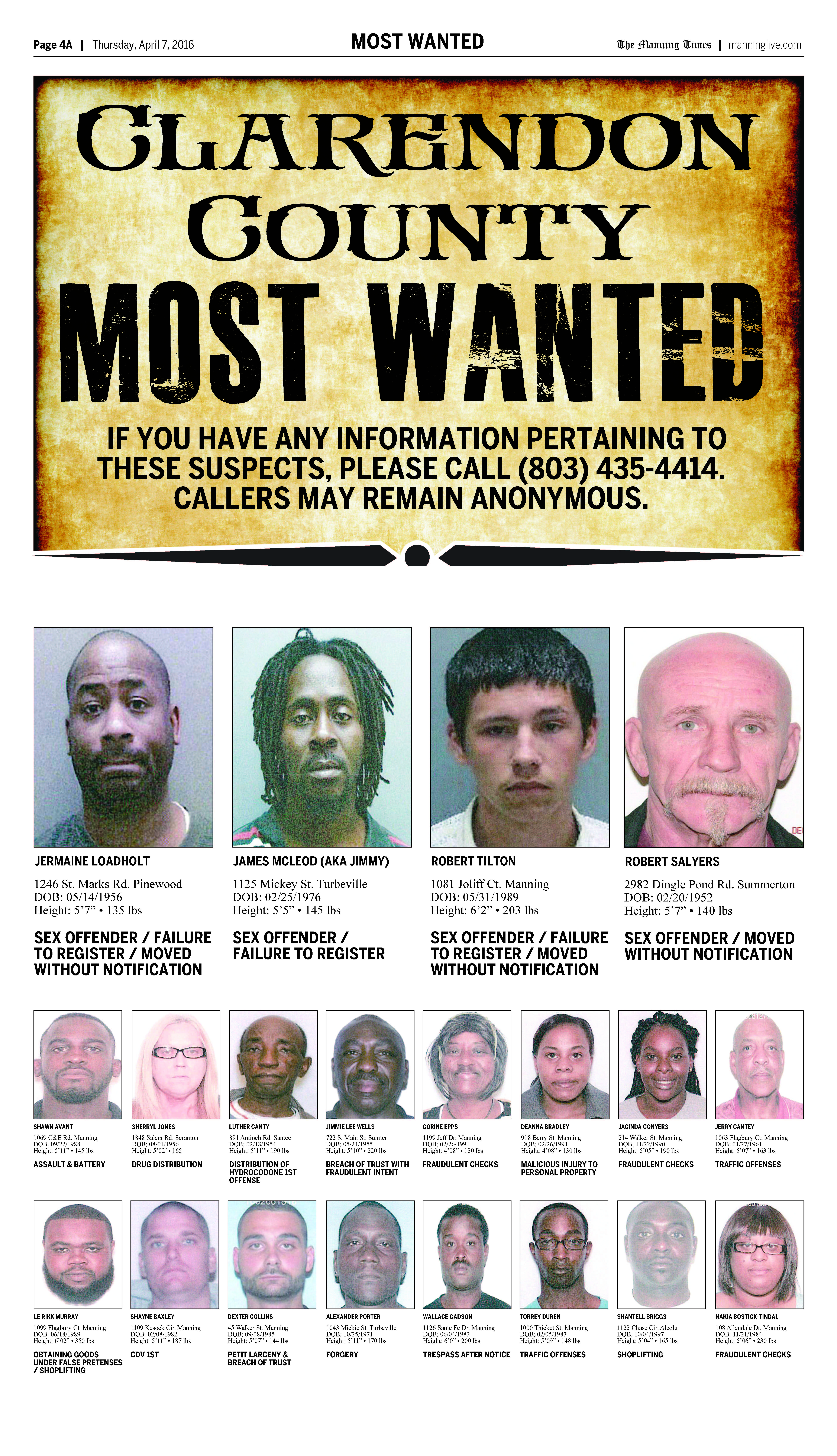 most wanted april 4