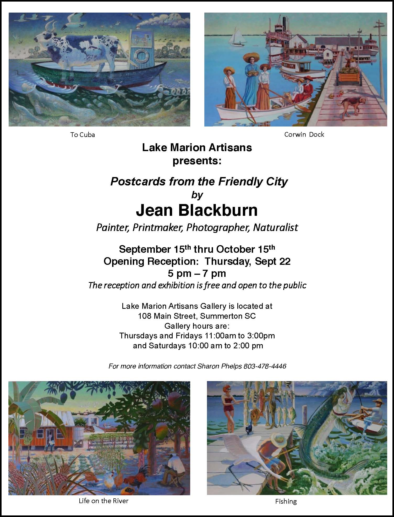 summerton artisans gallery jean blackburn