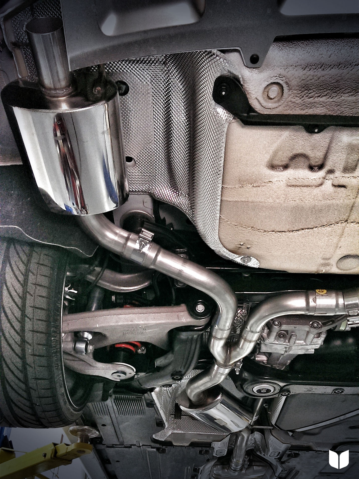 AWE Cat Back Exhaust, installed on car
