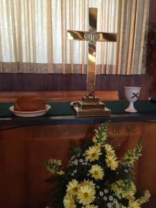 Worship communion table pic