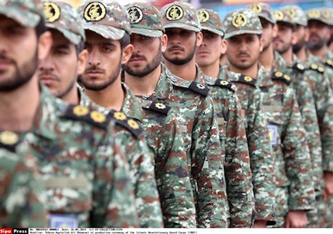 Iran's supreme leader, Ayatollah Ali Khamenei, attends a graduation ceremony of the Islamic Revolutionary Guard Corps (IRGC) ceremony at army cadets, accompanied by Revolutionary Guard commander General Mohammad Ali Jafari and Armed Forces Chief of Staff Hassan Firouzabadi. Tehran-Iran 21/03/2014 /AY-COLLECTION_1555.61/Credit:AY-COLLECTION/SIPA/1405261603 (Sipa via AP Images)