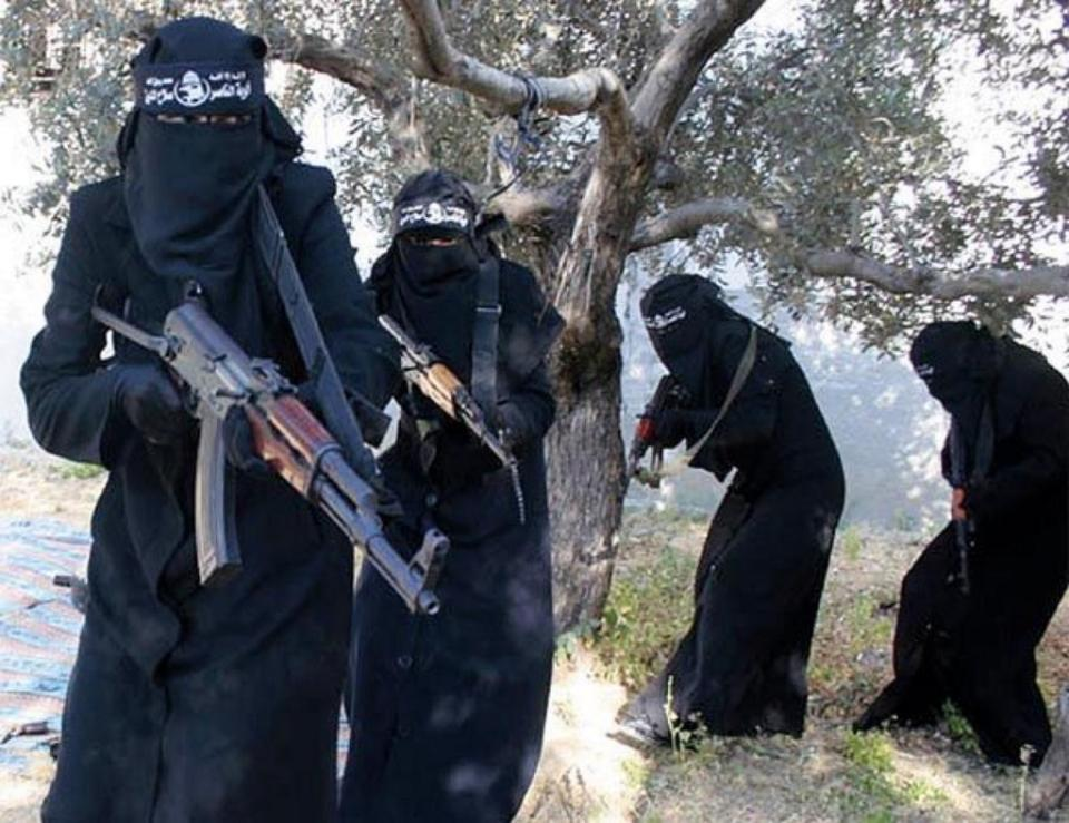 All-Female ISIS Brigade image posted on Twitter