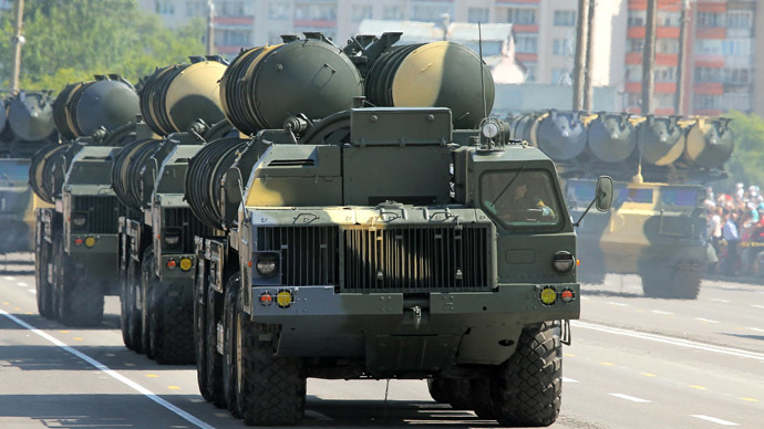 2213730 07/03/2013 S 300 launchers are seen at the military parade to mark the Republic of Belarus's Independence Day. Andrei Aleksandrov/RIA Novosti