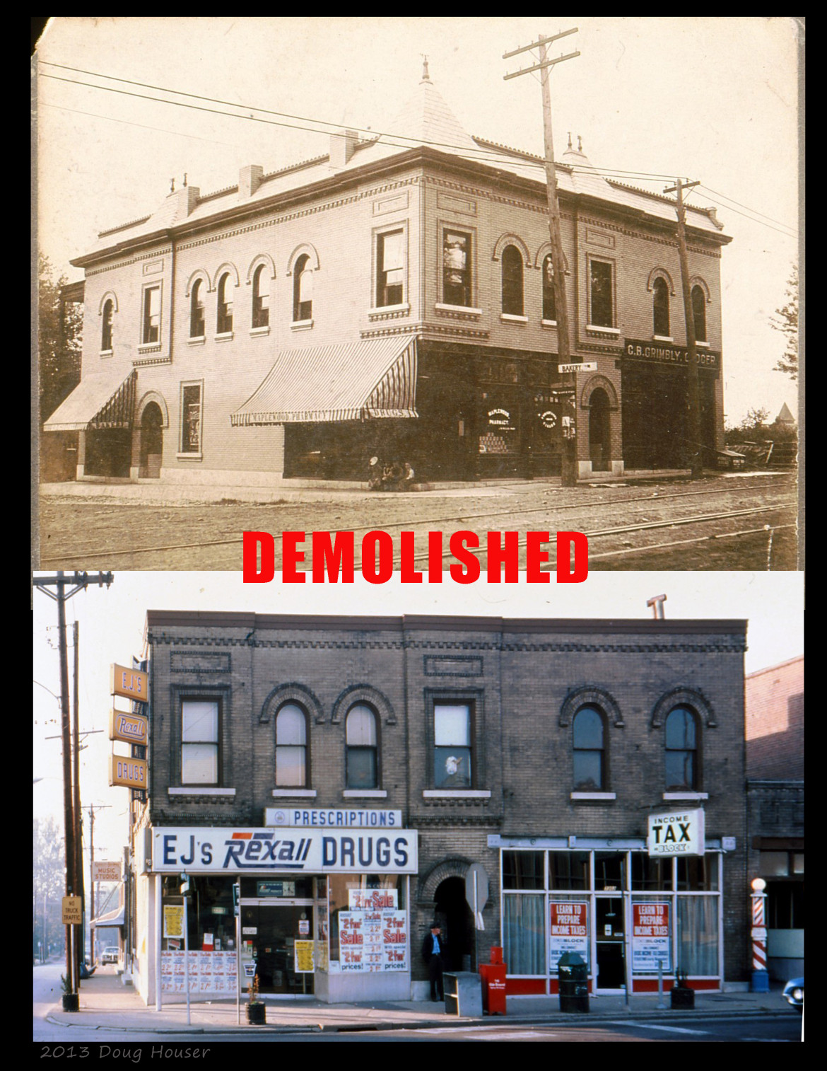 This magnificent brick building was located at the SW corner of Mancheater and Marshall until it was demolished in the early 70's.