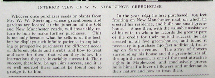 From the 1904 Suburban Journal. Courtesy of Maplewood Public Library.