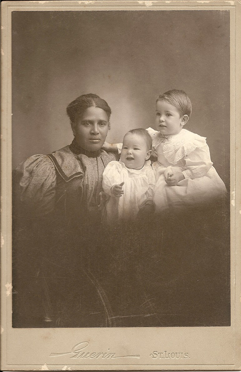 Ella Robinson with Cartmell and Warder Dec. 29,1896.  This photo is a true treasure the contributions of African/Americans can be difficult to trace.  Ella's name and the exact date on this photo add much needed information to an area sadly lacking.