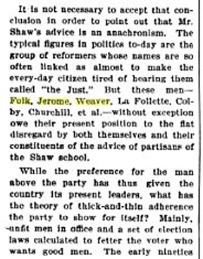 Excerpt from The Nation 1906