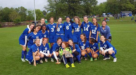 MRH girls soccer took runner-up in Districts against Principia