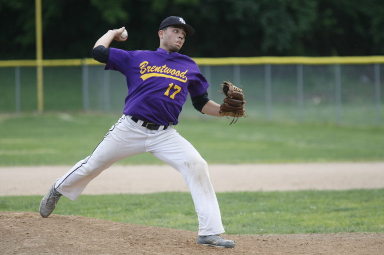Senior Mike Mills started for the Eagles on the mound.