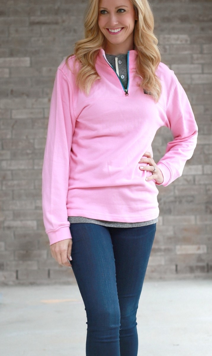 pink pullover