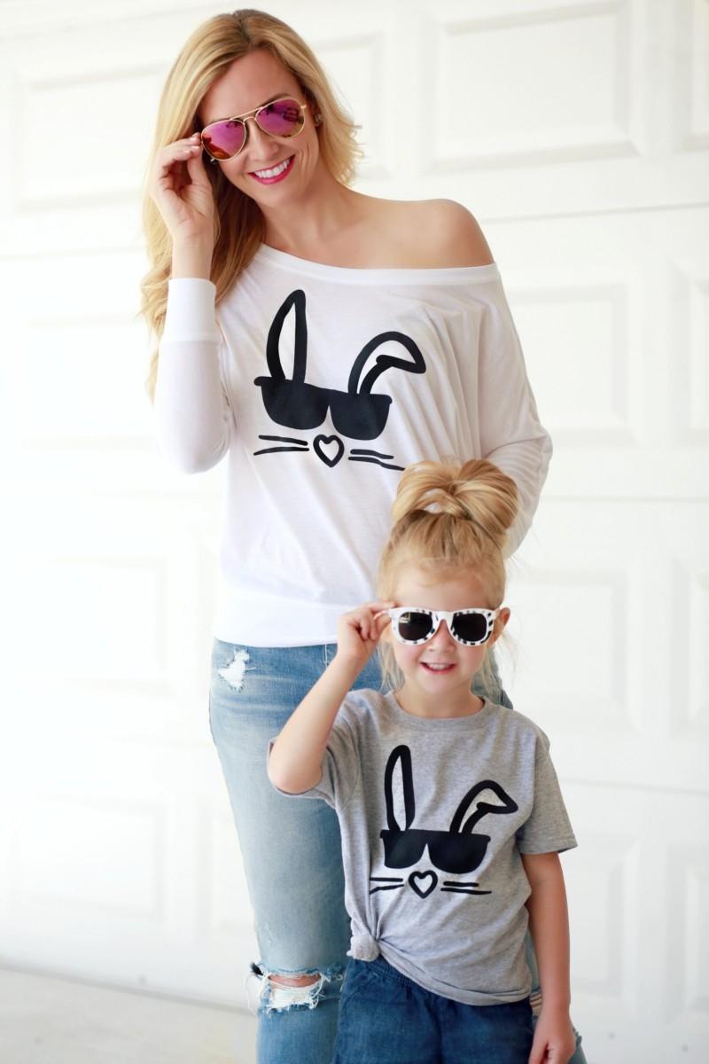 Mini and Me Easter Shirts