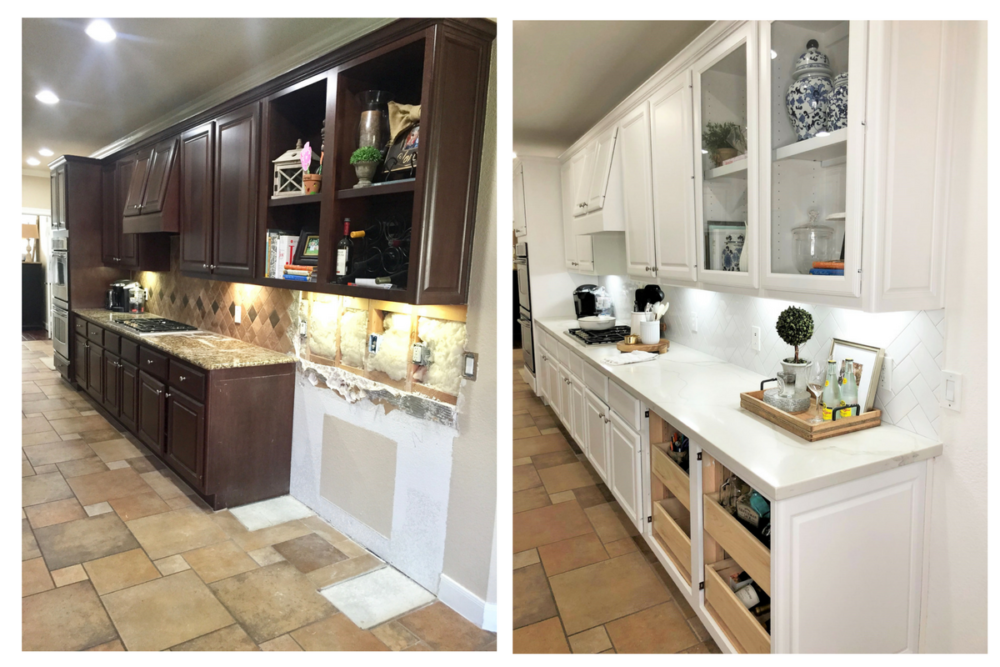 kitchen remodel before and after - Our Home Improvement Update by popular Houston lifestyle blogger Haute & Humid