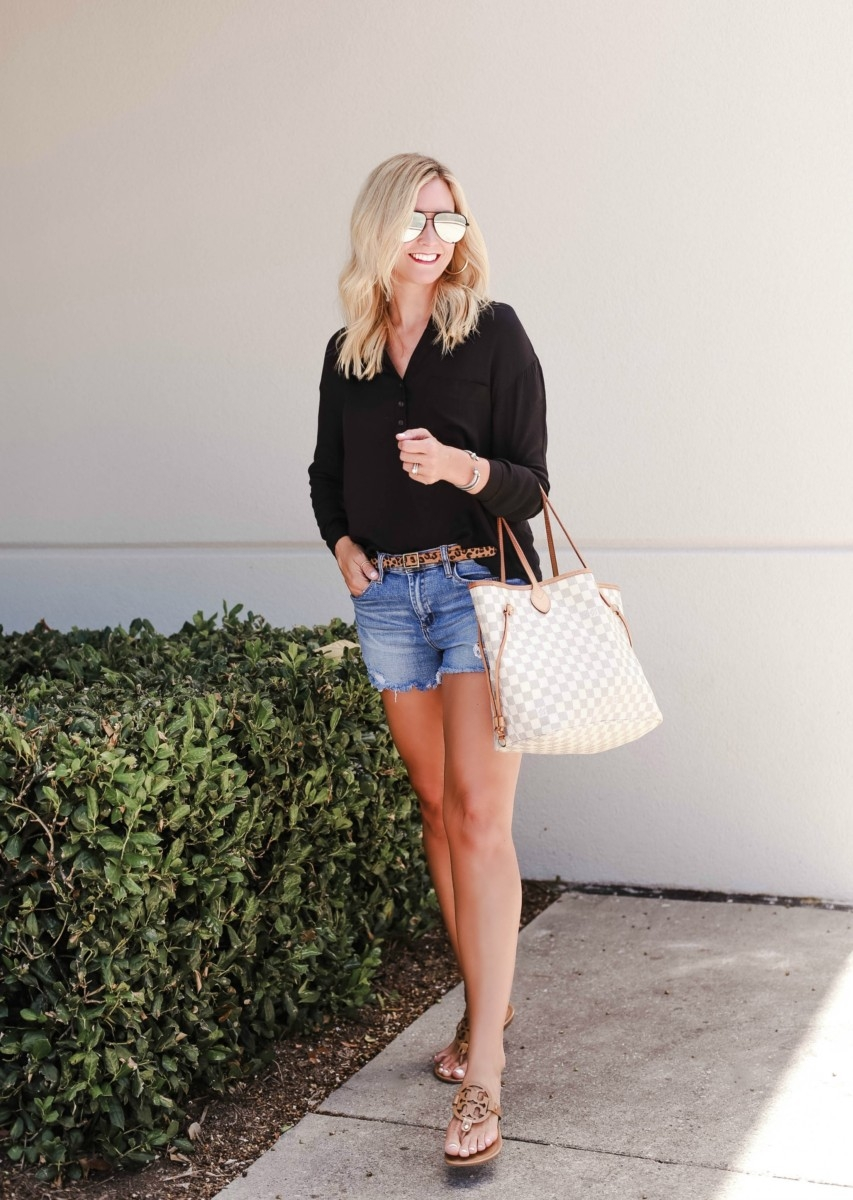 leopard belt - Your Favorite Podcasts By Genre and Favorite Summer to Fall transitional outfits featured by popular Houston life and style blogger, Haute & Humid