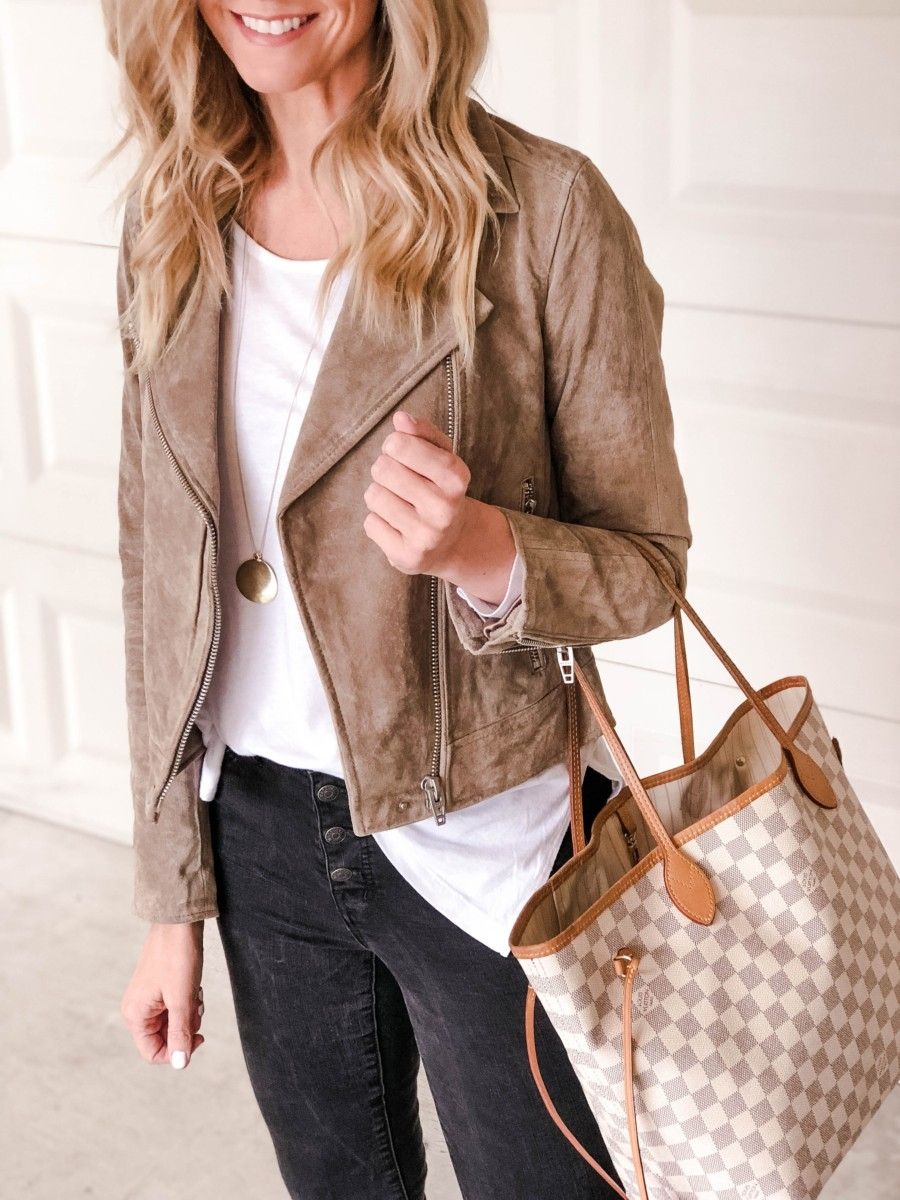 suede moto jacket   Patagonia   Adidas   Fashion   Fall Fashion Favorites   Nordstrom Black Friday And Cyber Monday Sales featured by top Houston fashion blog Haute & Humid