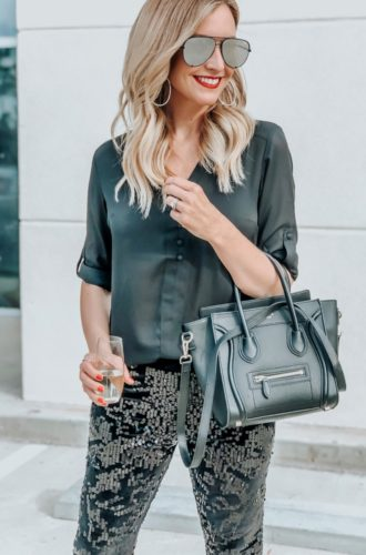 Sequin Leggings For New Years Eve