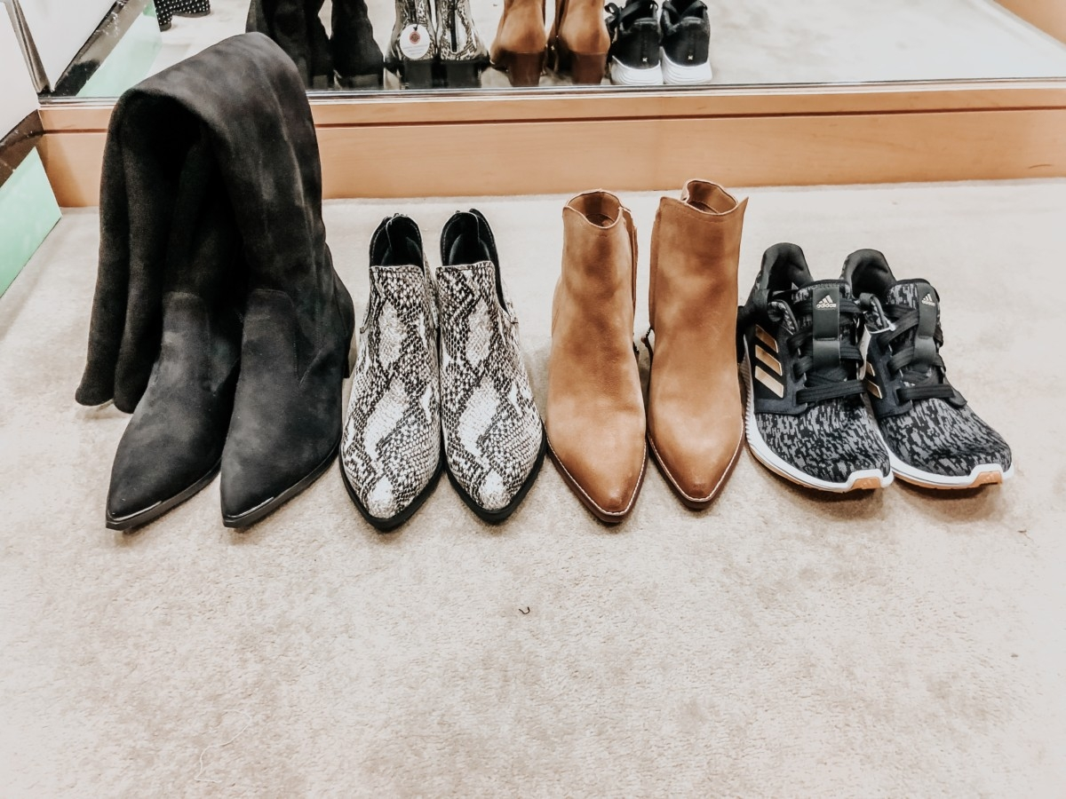 nordstrom anniversary sale shoes | Nordstrom Anniversary Sale Favorites by popular Houston fashion blog, Haute and Humid: image of Yakira Over the Knee Boot by MARC FISHER LTD, Eliza Waterproof Bootie by BLONDO, Welles Bootie by SAM EDELMAN, and Edge Lux 3 Running Shoe by ADIDAS.