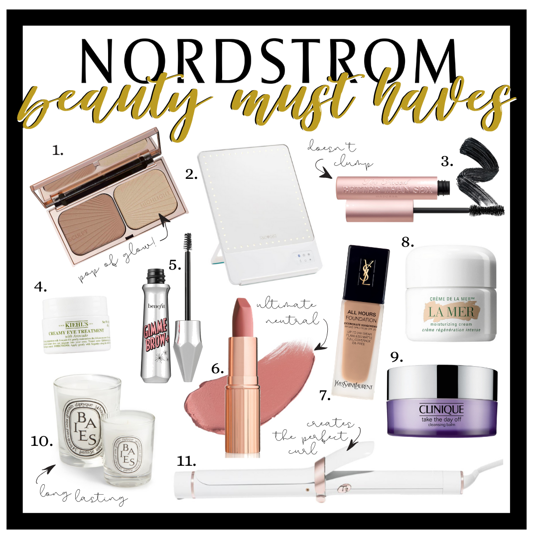 beauty gift guide | Beauty Gift Ideas: All Things Hair, Makeup And Skin by popular Houston beauty blog Haute and Humid: collage image of Nordstrom beauty products.