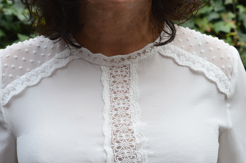 Tesco, White Lacey Top, Blouse, Petitefashion