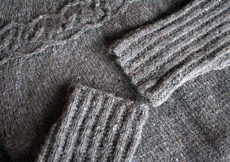 Tangled Yoke sleeves showing matching CO and BO edges