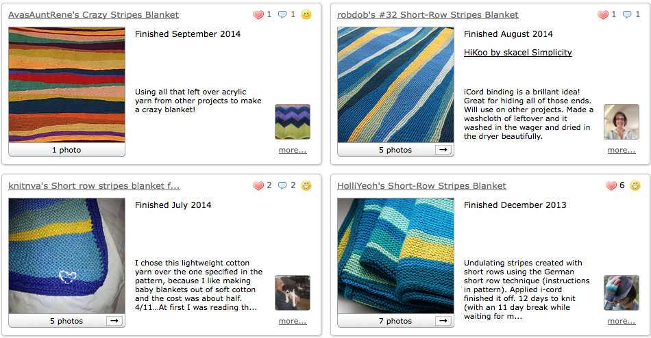 Short-Row Stripes Blanket knitting pattern by Holli Yeoh | Ravelry projects