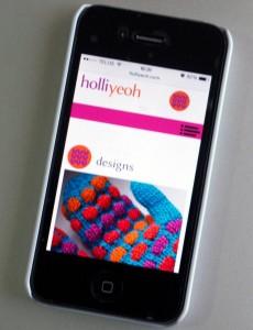 HolliYeoh.com website on a mobile device--go explore!