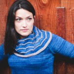 Watermark cowl neck tunic knitting pattern by Holli Yeoh | Published in Tempest