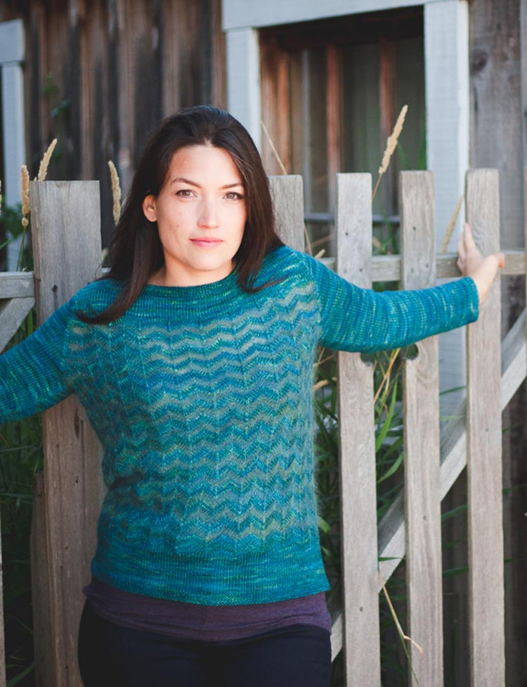Eventide chevron pullover knitting pattern by Holli Yeoh   Tempest book