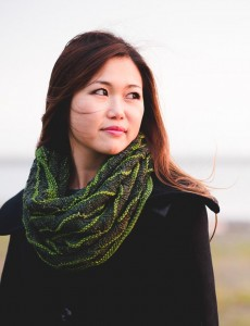 First Beach cowl knitting pattern (deep version) by Holli Yeoh | Tempest book