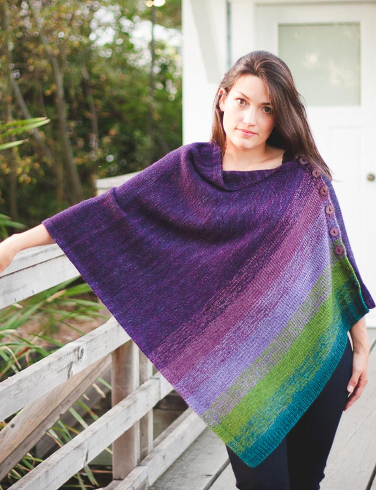 Haven poncho knitting pattern by Holli Yeoh | Tempest book