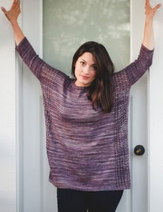 Stormwatch boxy pullover knitting pattern by Holli Yeoh | Tempest book