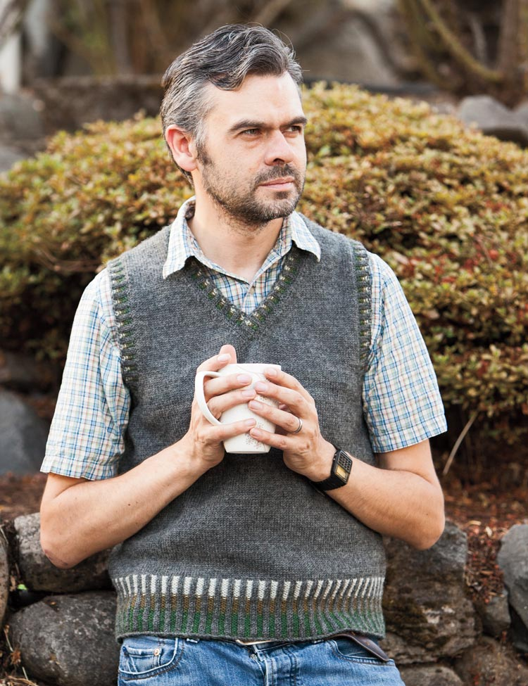 Corrugated Vest knitting pattern by Holli Yeoh   published in Knit Picks Heritage Collection